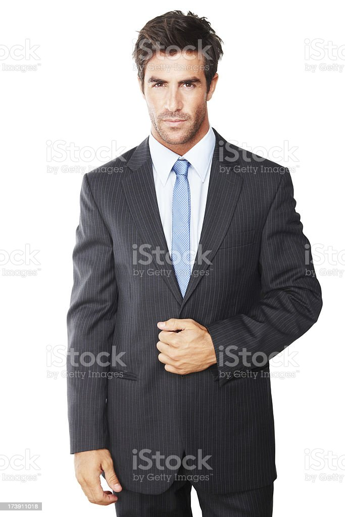 Close-up of a confident young businessman royalty-free stock photo