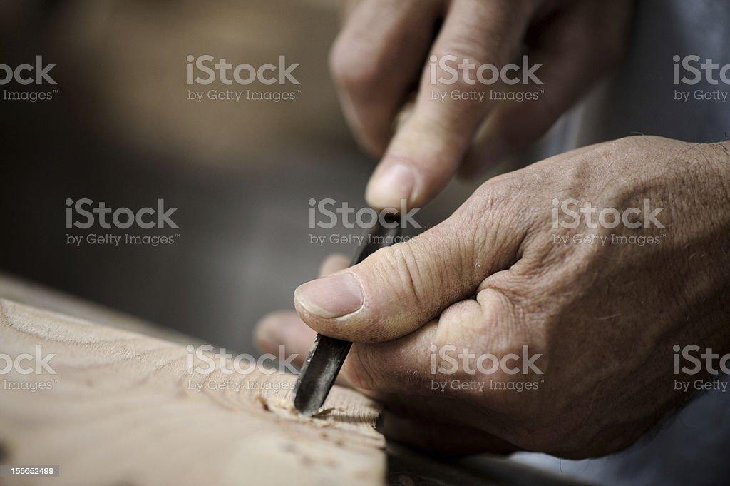 Mains de l'artisan photo libre de droits