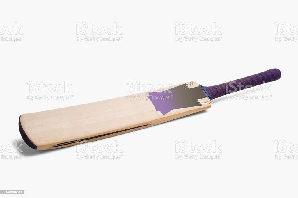 Close-up of a cricket bat stock photo