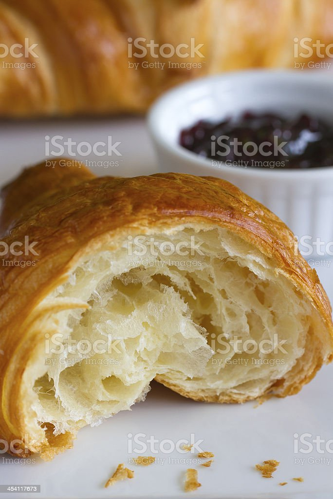 Close-up of a Croissant royalty-free stock photo