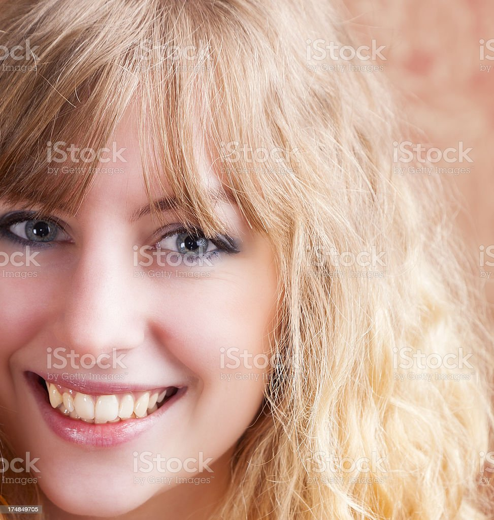 Close-up Of A Cute Blonde royalty-free stock photo