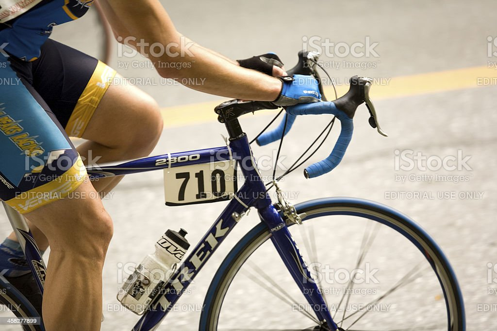 Close-up of A cyclists Arms and Legs stock photo