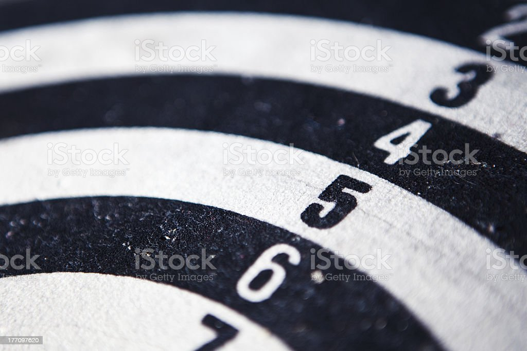 Closeup of a dartboard target royalty-free stock photo