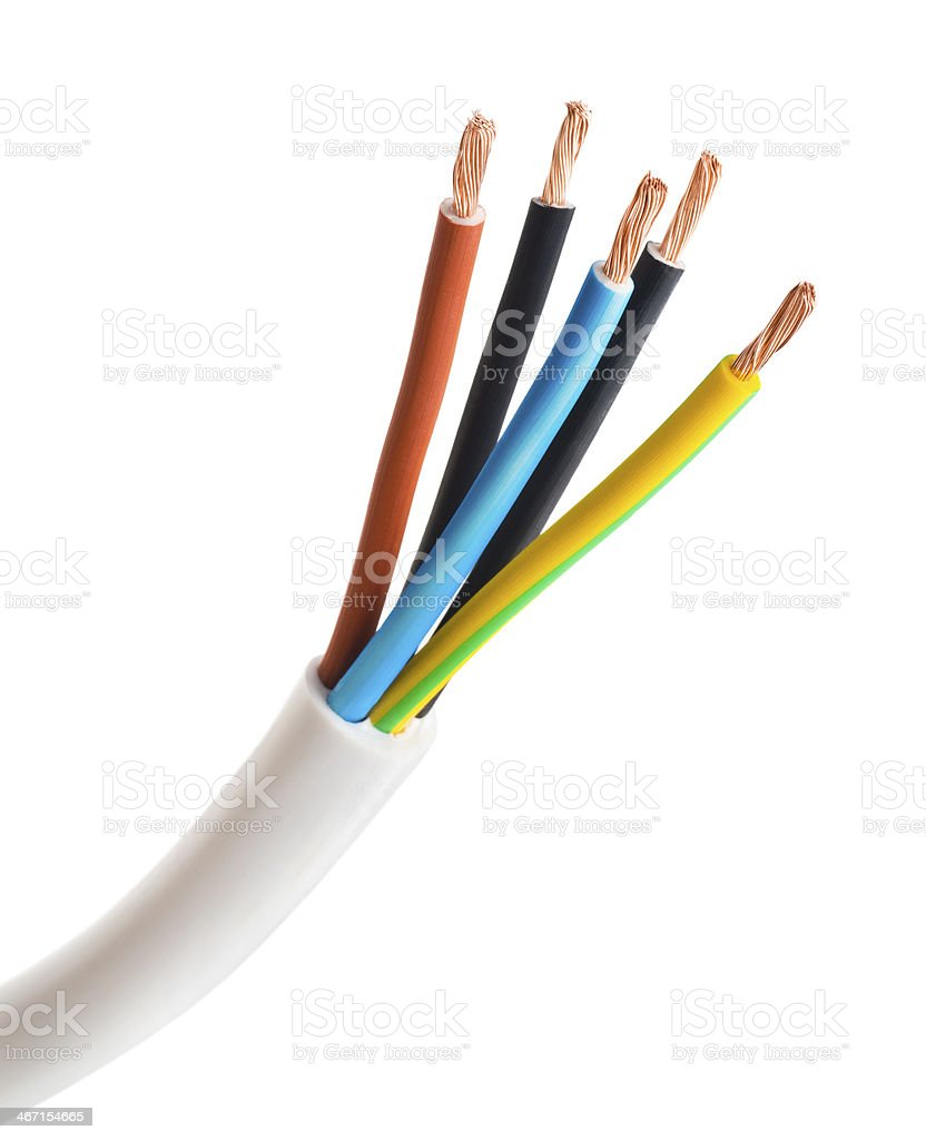 closeup of a electric cable stock photo