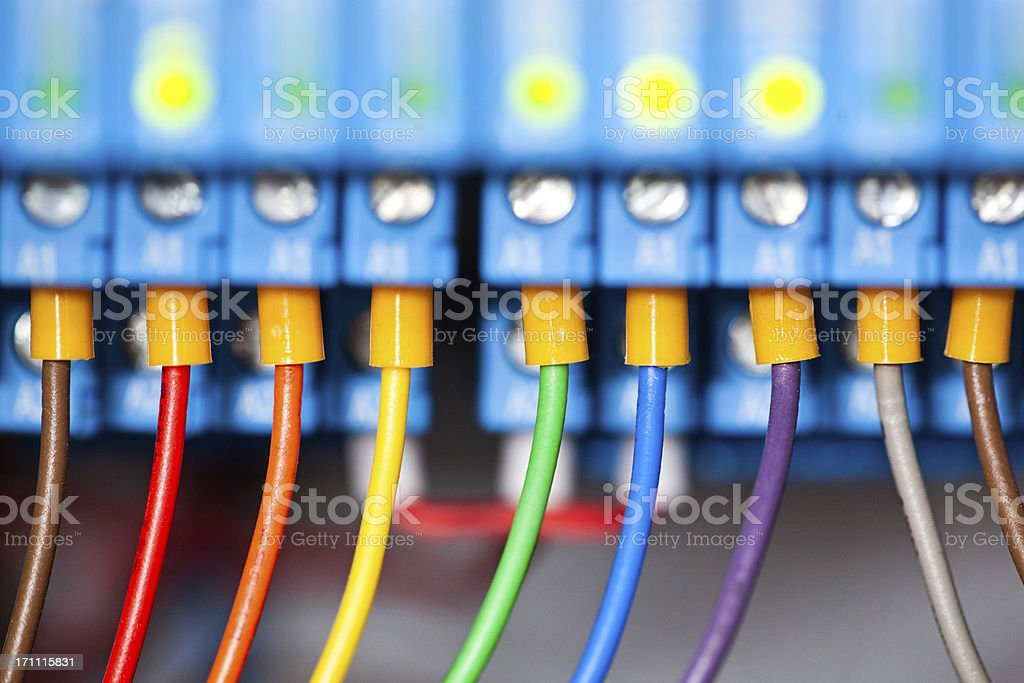 Close-up Of a Electrical Panel royalty-free stock photo