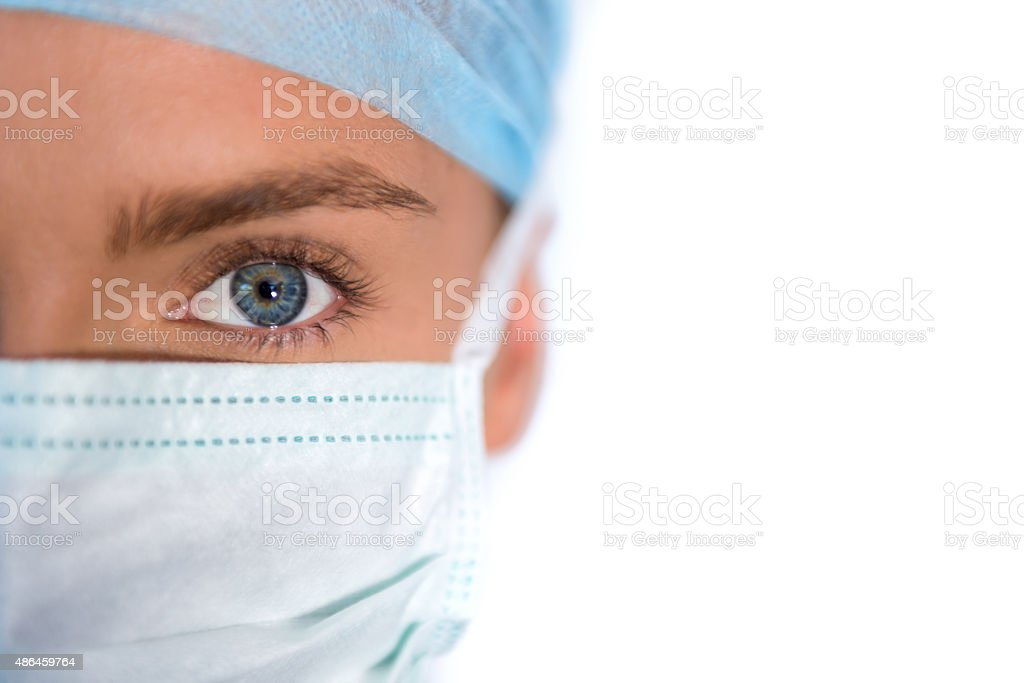 Close-up of a female surgeon stock photo