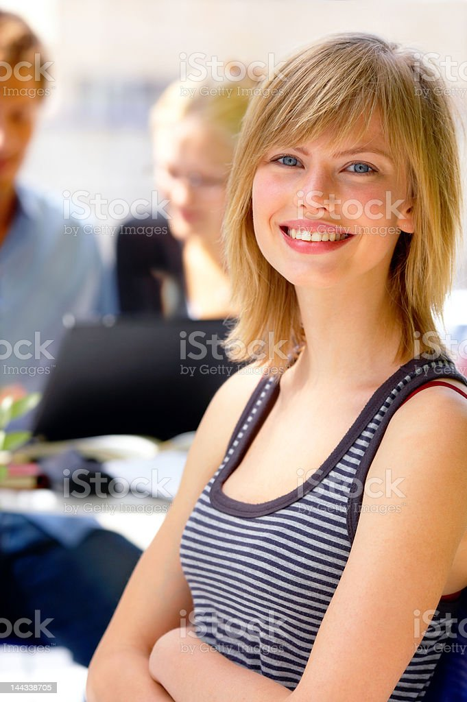 Close-up of a female young student royalty-free stock photo