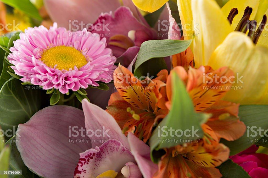 Closeup Of A Flower Arrangement stock photo