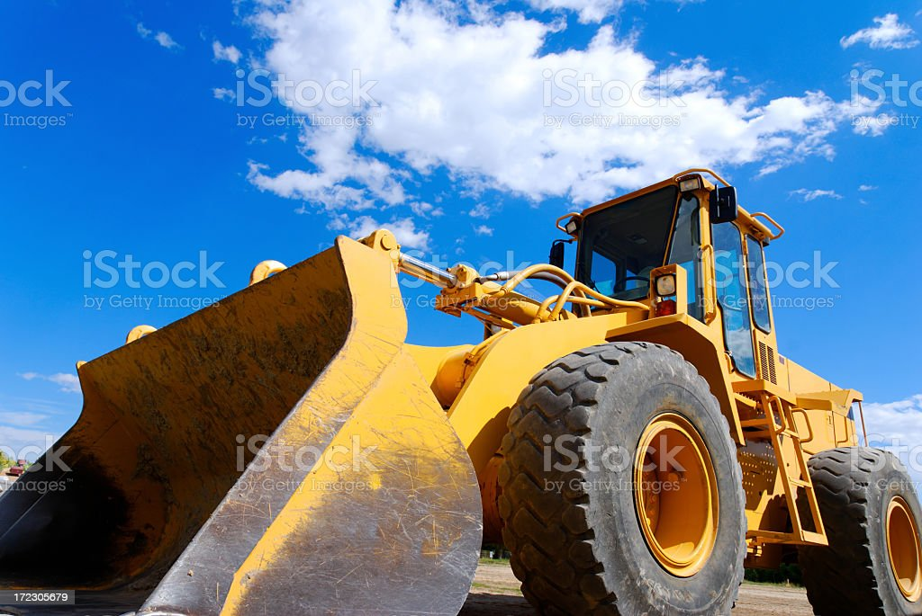 Close-up of a front end loader 2 stock photo