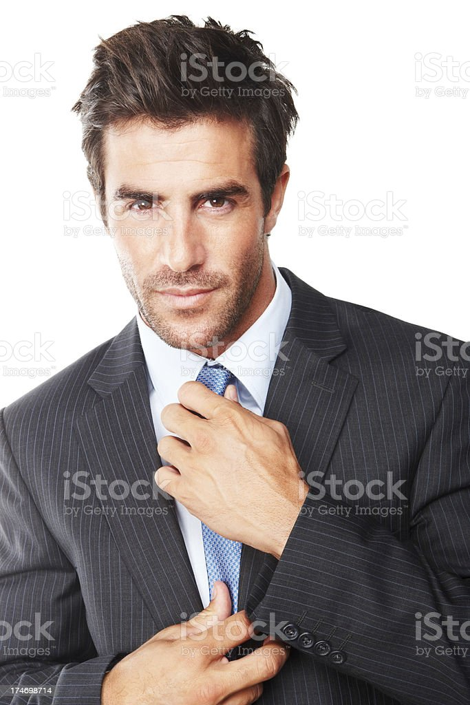 Close-up of a handsome businessman royalty-free stock photo