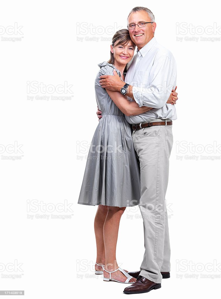 Closeup of a happy mature couple stock photo