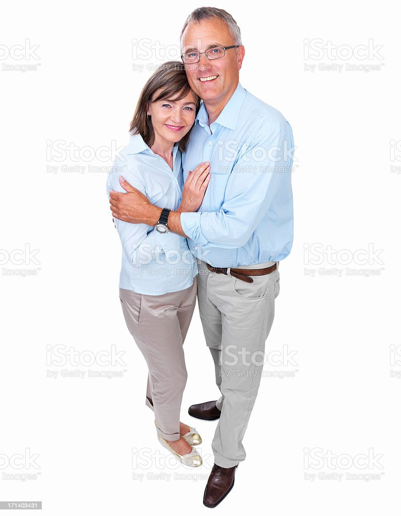 Closeup of a happy senior couple stock photo