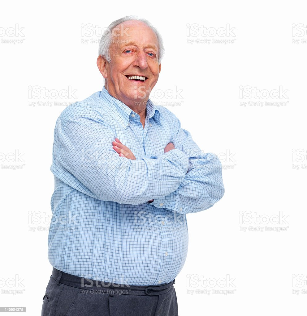 Close-up of a happy senior man stock photo