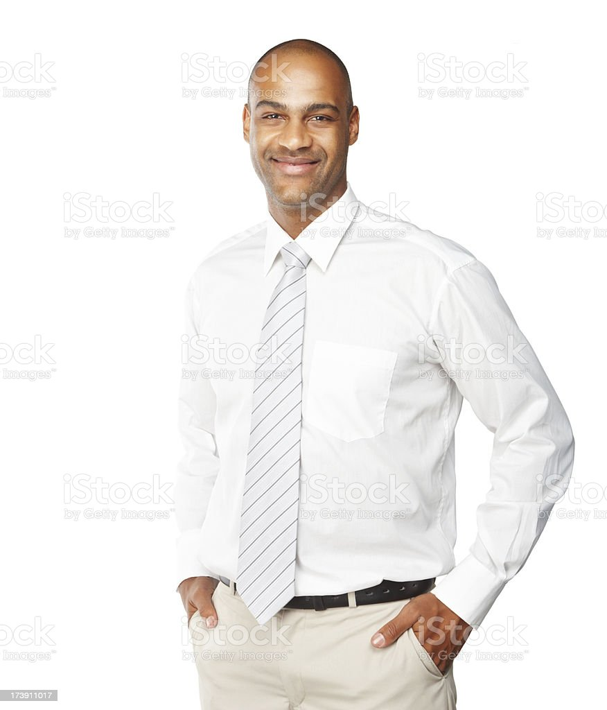 Close-up of a happy young businessman royalty-free stock photo