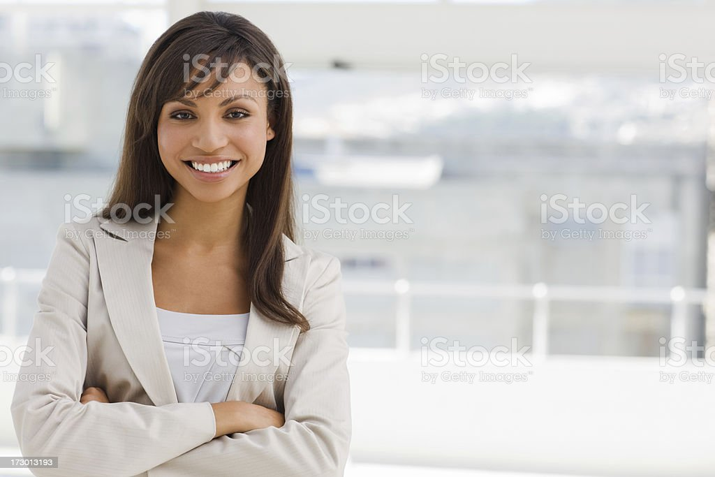 Closeup of a happy young woman royalty-free stock photo