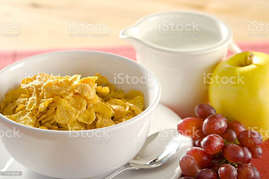 Close-up of a healthy breakfast royalty-free stock photo