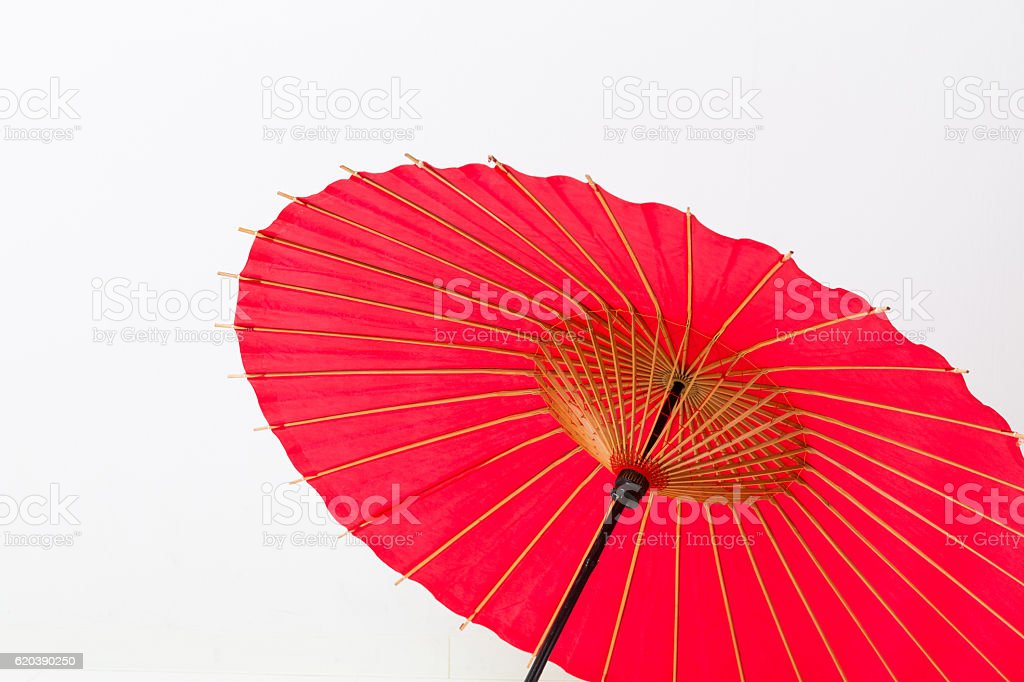 Close-up of a Japanese paper umbrella stock photo