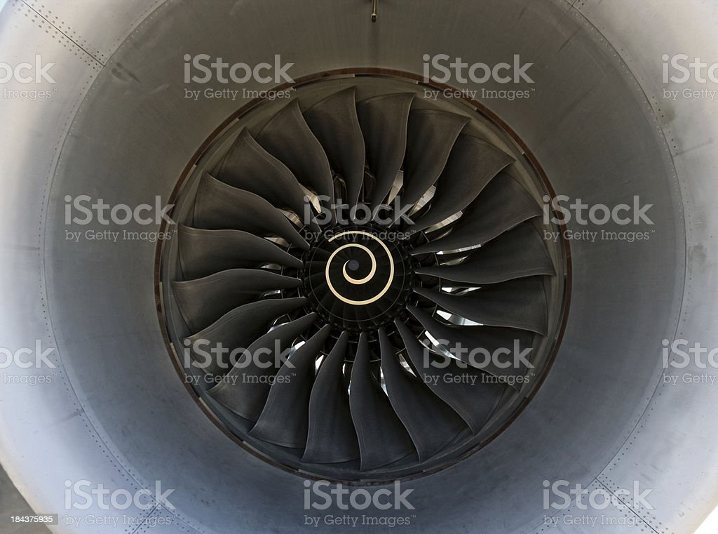 Close-up of a  Jet engine stock photo