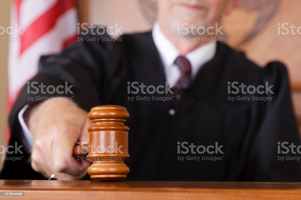 Close-up of a Judge's Gavel stock photo