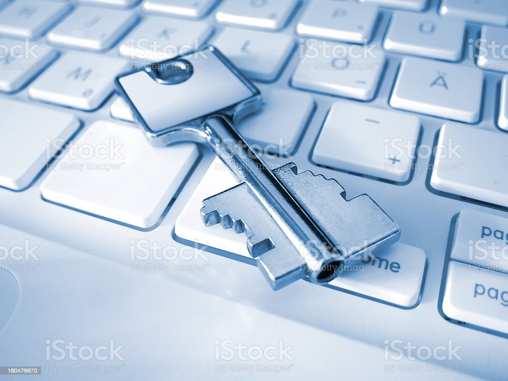 Close-up of a key on a keyboard royalty-free stock photo