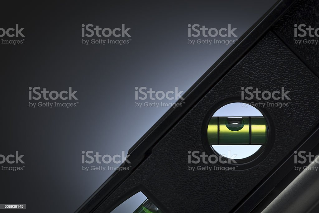 Close-up of a level. stock photo