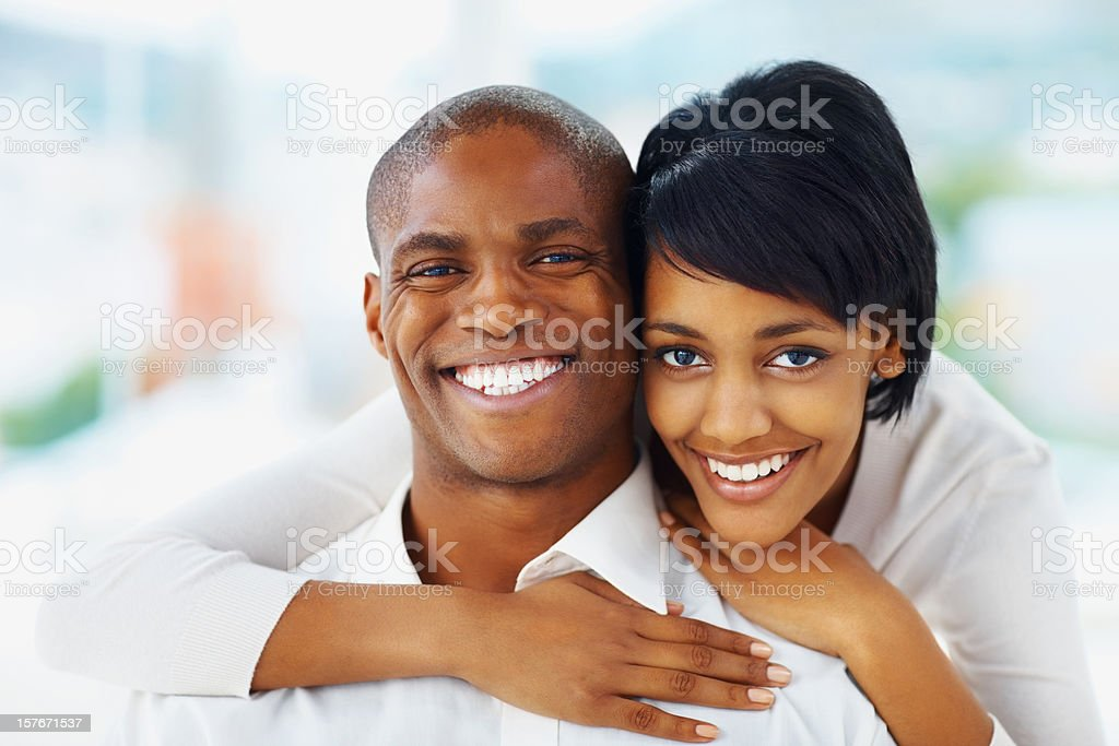 Closeup of a loving couple spending time together stock photo