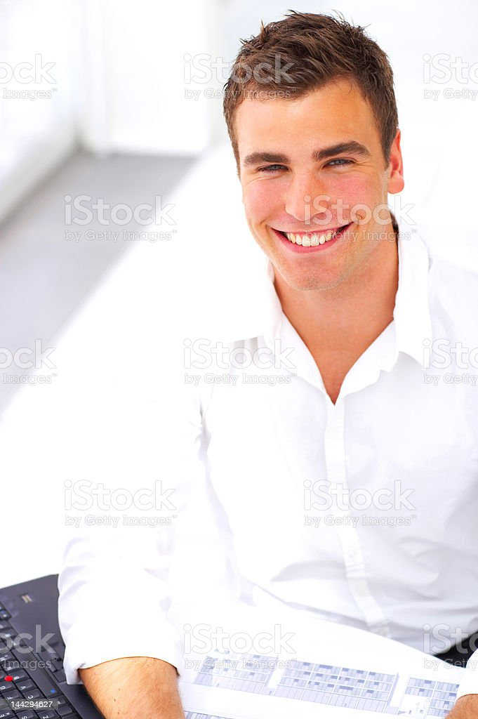 Close-up of a male architect smiling royalty-free stock photo