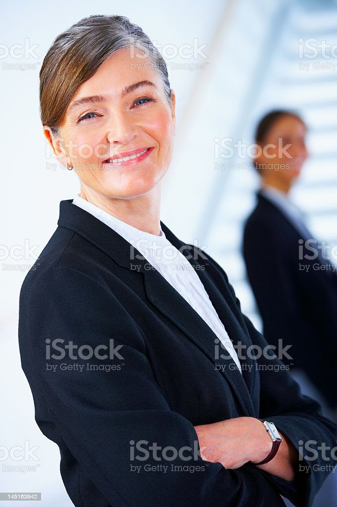 Close-up of a mature businesswoman smiling royalty-free stock photo