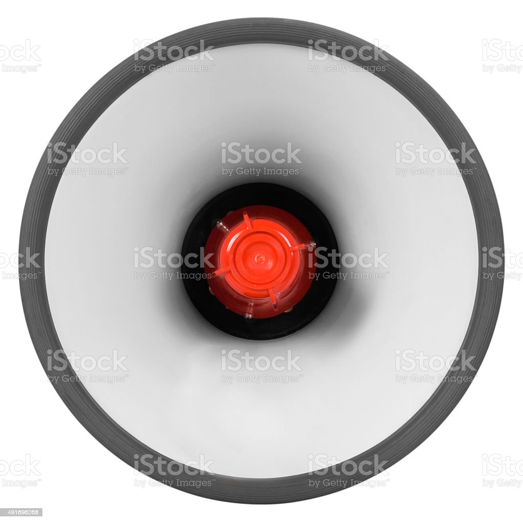 Close-up of a megaphone stock photo