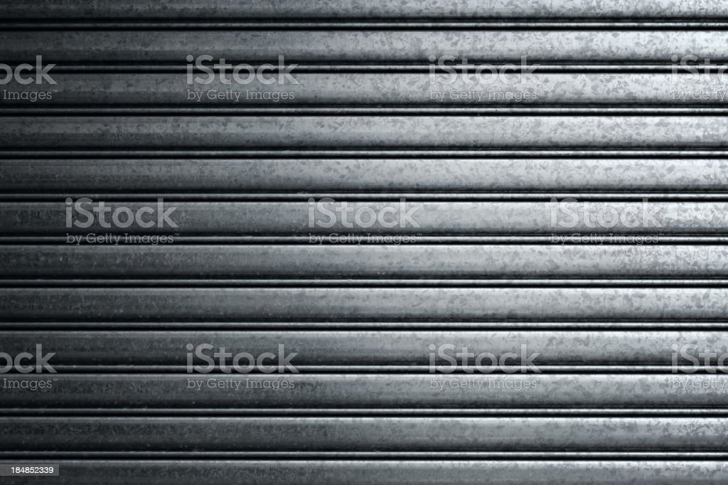 Closeup of a metal gate typically found on buildings stock photo