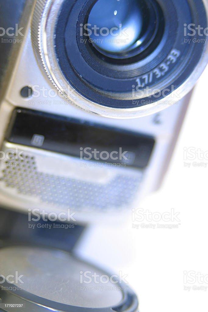 Closeup of a mini dv camera stock photo