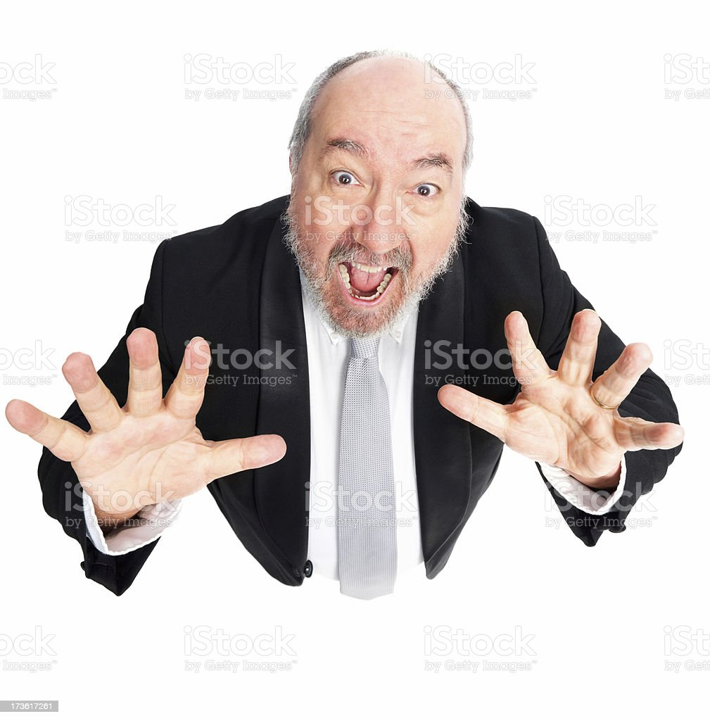 Close-up of a mischievous mature businessman royalty-free stock photo