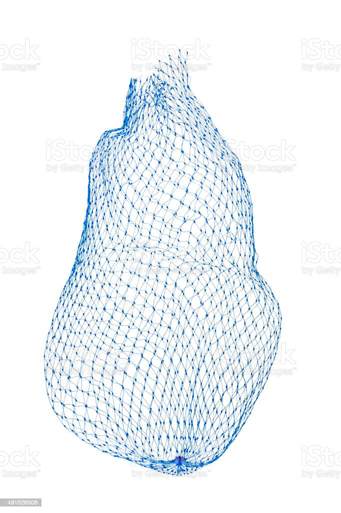 Close-up of a net bag stock photo