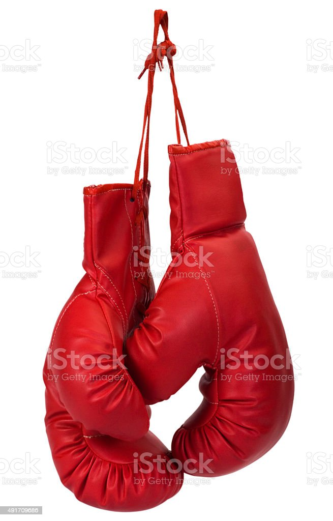 Close-up of a pair of boxing gloves stock photo