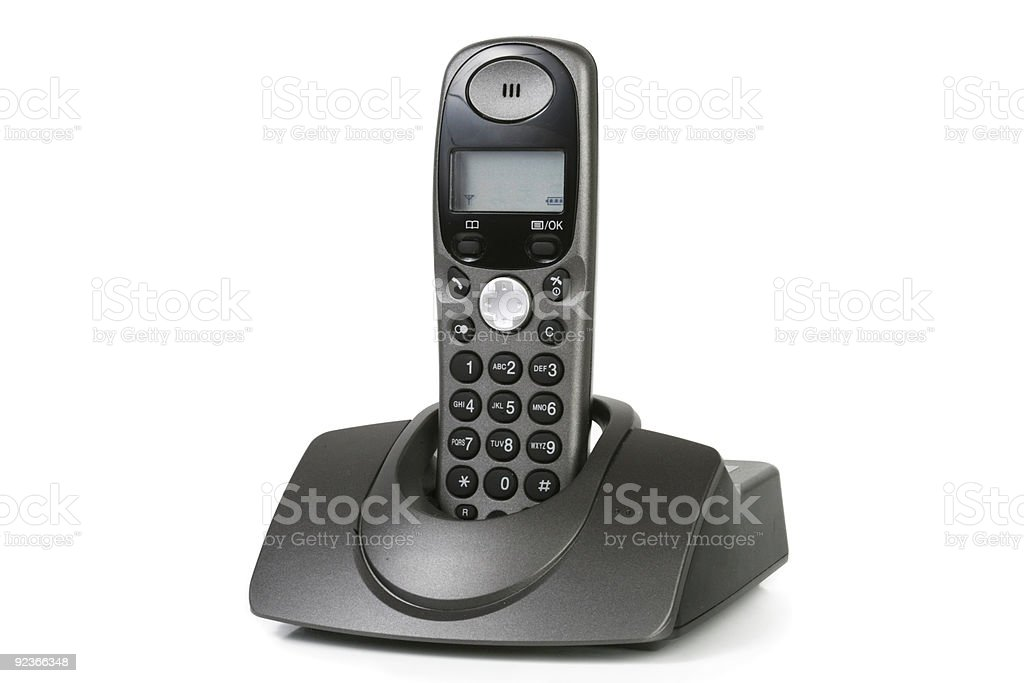 Close-up of a phone isolated on white background royalty-free stock photo