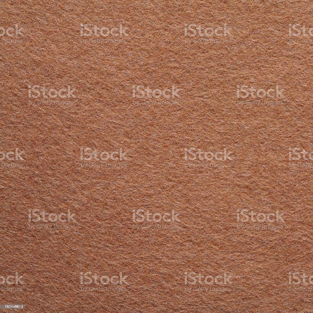 A close-up of a piece of brown felt stock photo