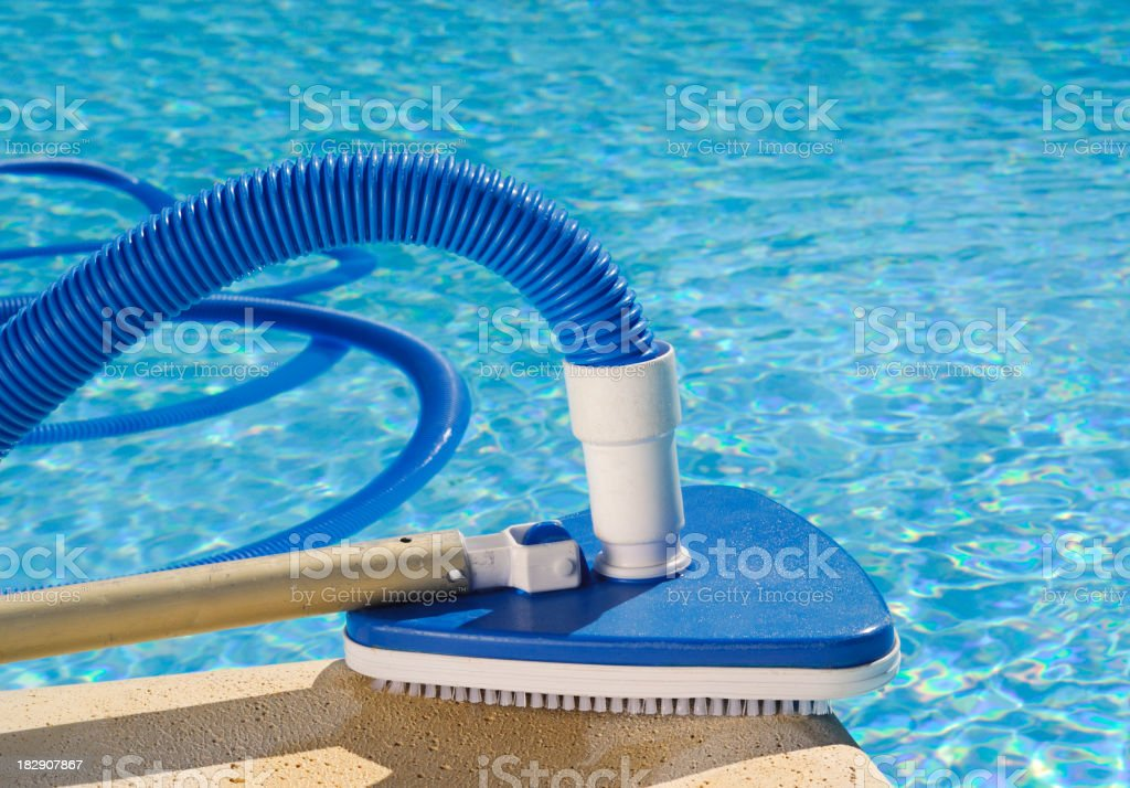 Closeup of a pool cleaning device royalty-free stock photo