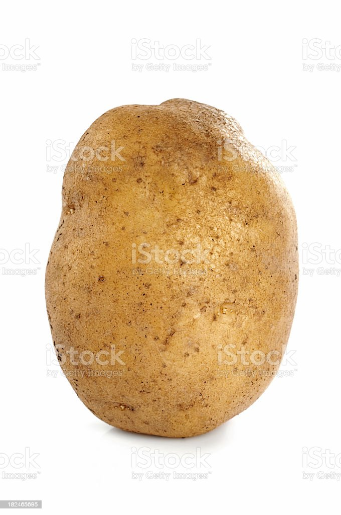 A close-up of a potato with skin stock photo