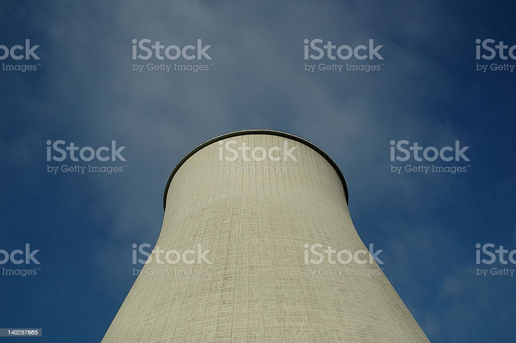 closeup of a power plant royalty-free stock photo
