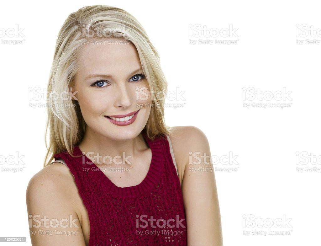 Closeup of a pretty woman royalty-free stock photo