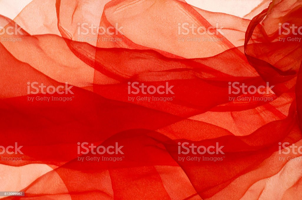 Close-up of a red scarf stock photo