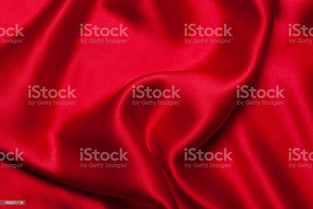 A close-up of a red silk cloth royalty-free stock photo