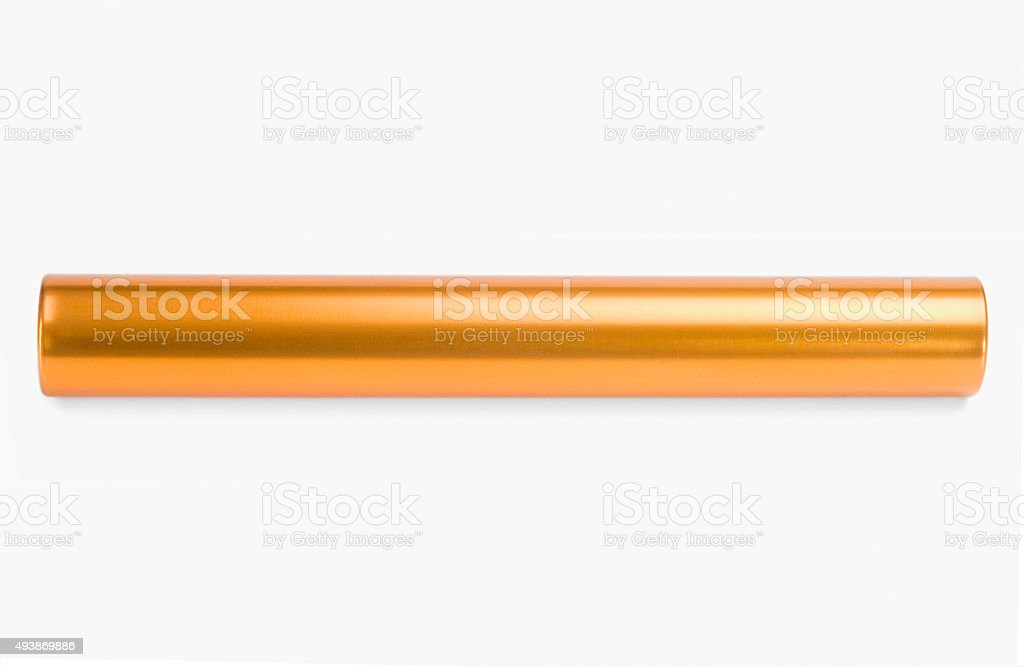 Close-up of a relay baton stock photo
