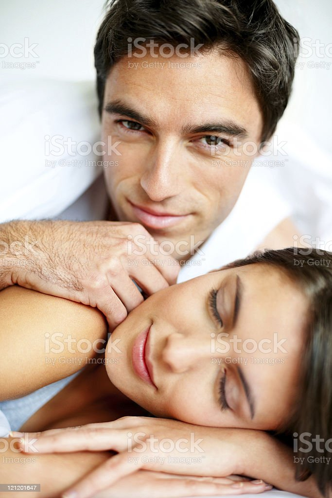 Close-up of a romantic young couple royalty-free stock photo
