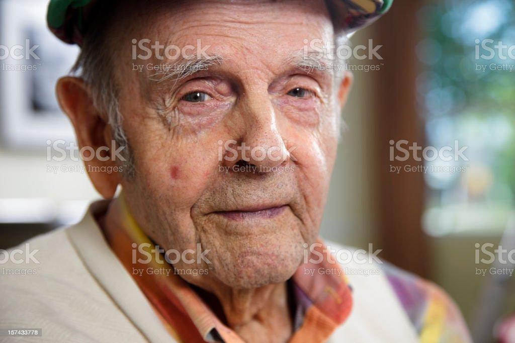 Close-up of a Senior Citizen Man royalty-free stock photo