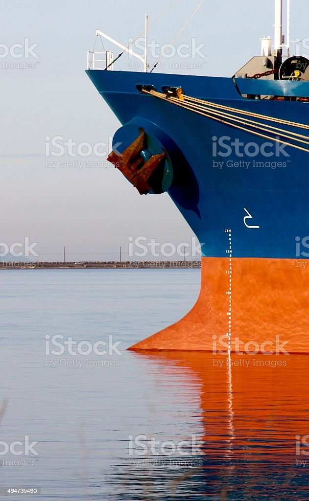Close-up Of A Ships Bow stock photo