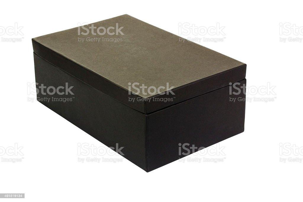 Close-up of a shoe box stock photo
