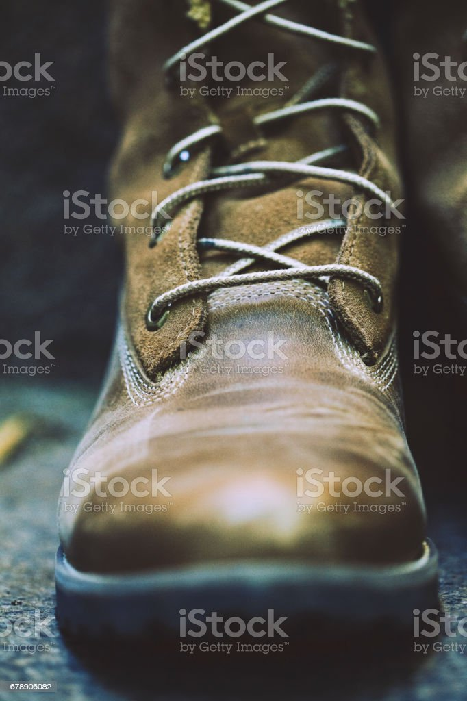 Close-up of a shoe stock photo