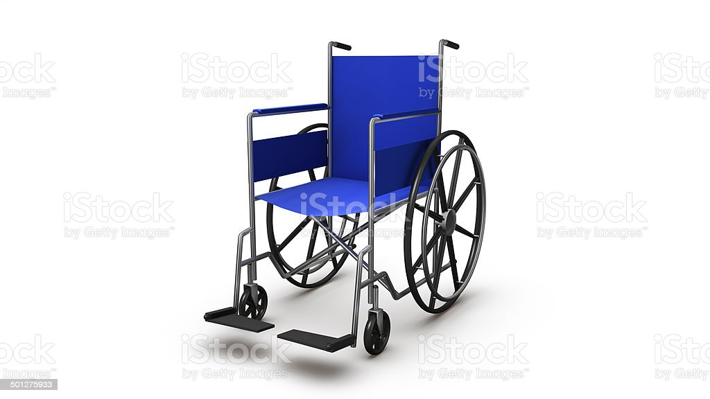 Close-up of a Single Wheelchair royalty-free stock photo