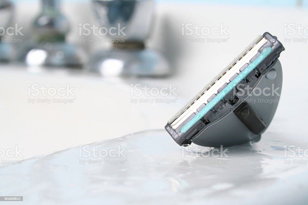 Closeup of a sink; very bright stock photo